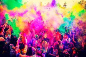 remove Holi colours naturally
