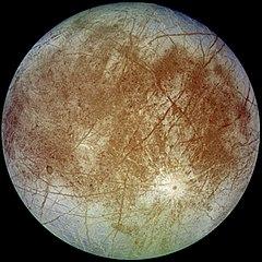 Weight on Europa moon