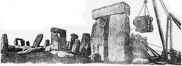 Stonehenge 1920 restoration