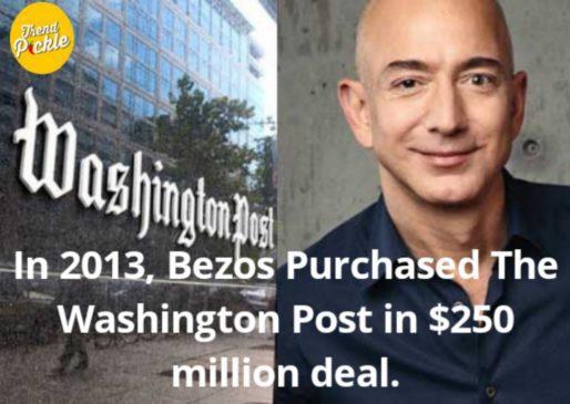 jeff bezos purchased washington post