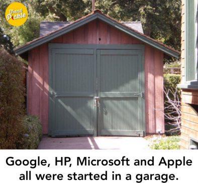 apple,microsoft was started in garage