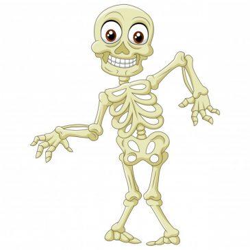 funny spooky skeleton